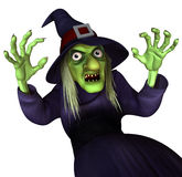 Witch. 3 d cartoon halloween witch Stock Photography