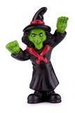 Witch. Toy witch figurine isolated on white with clipping path Stock Image