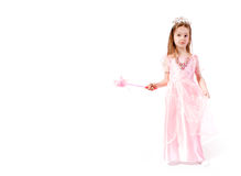 Witch. Young Child as witch on White Background Royalty Free Stock Photo