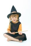 Witch. Little girl dressed up as a witch Stock Photos