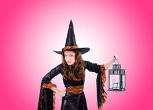 Witch against the gradient background Stock Image