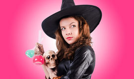 Witch against the gradient background Royalty Free Stock Photo