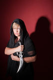 Witch With Athame Stock Images