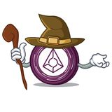 Witch Augur coin mascot cartoon. Vector illustration Stock Image