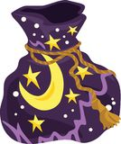 Witch Bag Icon and Vector Illustration. For any purpose such as cover and illustration book, website, social media, blog, stationary, print stuff, poster, icon Royalty Free Illustration