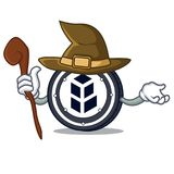 Witch bancor coin mascot cartoon. Vector illustration Stock Images