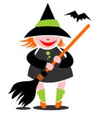 Witch and bat Stock Images