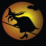 Witch and bats Royalty Free Stock Images
