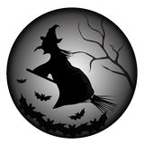 Witch and bats Stock Image