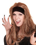 Witch in black costume Royalty Free Stock Photo