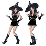 Witch in black hat Royalty Free Stock Photos