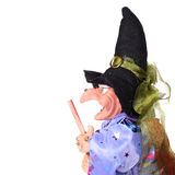 Witch with broom Stock Image