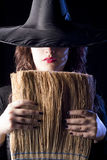 Witch with Broom Royalty Free Stock Photos