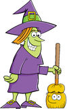 Witch with a broom Stock Photography
