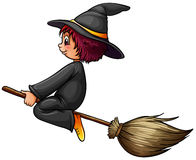 Witch and broom Royalty Free Stock Photo