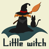 Witch on a broom Royalty Free Stock Images