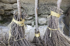 Witch brooms Detail Royalty Free Stock Images