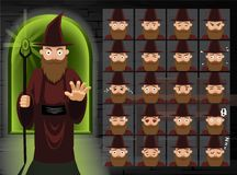Witch Brown Wizard Cartoon Emotion Faces Vector Illustration Royalty Free Stock Photo