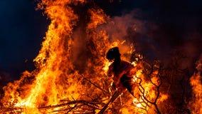 Witch burning Royalty Free Stock Photo