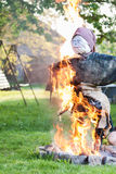 Witch burning of straw Royalty Free Stock Photography