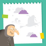 Witch cartoon Stock Photography