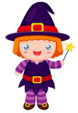 Witch cartoon Royalty Free Stock Image