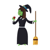 Witch cartoon icon Stock Photography