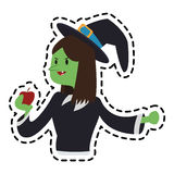 Witch cartoon icon Royalty Free Stock Photography