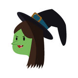 Witch cartoon icon Royalty Free Stock Images