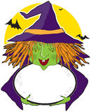 Witch and Cauldron Stock Photo