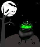 Witch cauldron Royalty Free Stock Image
