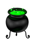 Witch cauldron Stock Photo