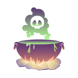 Witch cauldron with poison. Illustration  eps10 Royalty Free Stock Photo