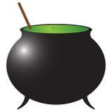 Witch Cauldron. Witch`s cauldron isolated on a white background Stock Photos