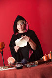 Witch Chanting Prayers Royalty Free Stock Photography