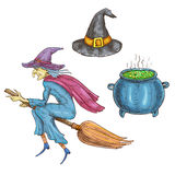 Witch character with Halloween sorceress elements Royalty Free Stock Image