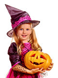Witch children at Halloween party Stock Image