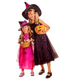 Witch children at Halloween party Stock Photo
