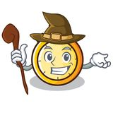 Witch chronometer character cartoon style Royalty Free Stock Photo