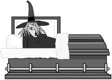 Witch In A Coffin Royalty Free Stock Photo