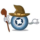 Witch 0X coin mascot cartoon. Vector illustration Royalty Free Stock Photography