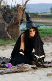 Witch conjures Royalty Free Stock Photography