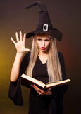 Witch conjuring Royalty Free Stock Photography