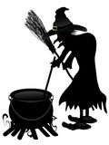 Witch cooking Stock Images