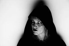 Witch in a corner Royalty Free Stock Images