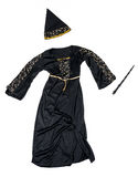 Witch costume with wand isolated. On white background Stock Image