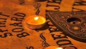 Witch Craft Ouija Board Spirit Game Stock Footage - Video of