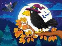 Witch crow theme image 2 Royalty Free Stock Image