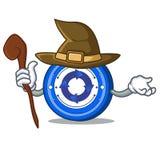 Witch Cryptonex coin mascot cartoon. Vector illustration Royalty Free Stock Image