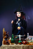 Witch on a dark background Royalty Free Stock Images